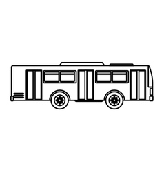 Bus transport public icon vector