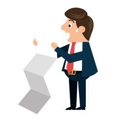 Businessman cartoon isolated icon design vector image