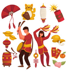 China culture chinese traditional symbols asian vector