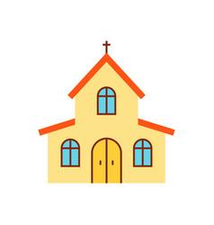 Church flat icon vector