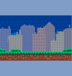 city downtown landscape with skyscraper vector image