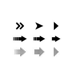 collection arrows arrows icon arrow arrows for vector image