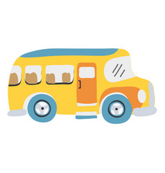 colorful vehicle school bus education vector image