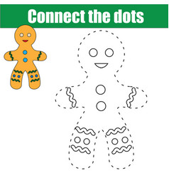 connect the dots children educational game vector image vector image