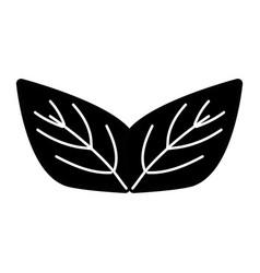 Contour beauty ecology leaves to decoration design vector