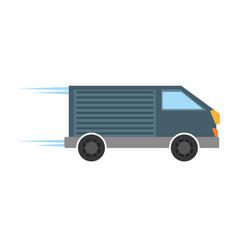Delivery van transport icon vector