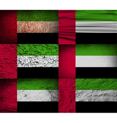 Flag of United Arab Emirates with old texture vector
