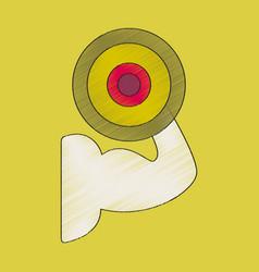 Flat shading style icon logo bicep vector