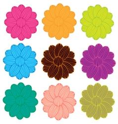 Flowers line vector image