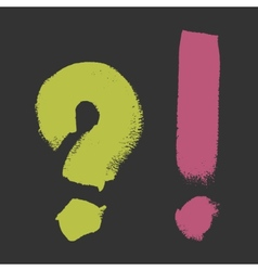 Grunge brush symbol set vector image