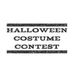 Halloween Costume Contest Watermark Stamp vector