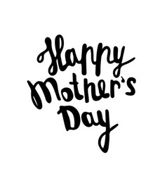 happy mother s day greeting card black vector image