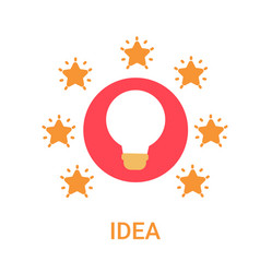 Idea business new project icon light bulb vector
