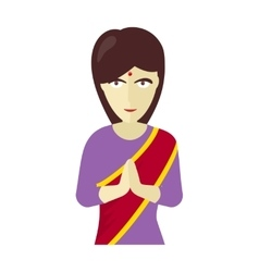 Indians Woman in Traditional Dress vector