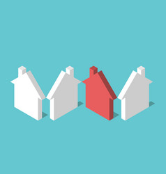 isometric unique red house vector image