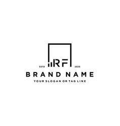 Letter rf square logo finance design vector
