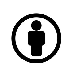 man black icon in circle - isolated on white vector image