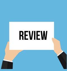 man showing paper review text vector image