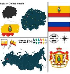 Map of Oblast of Ryazan vector
