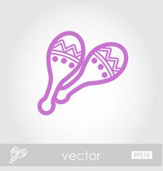Maracas outline icon summer vacation vector