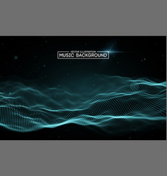 music abstract background blue equalizer for vector image