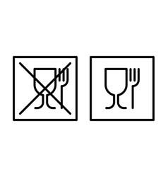 Not food grade plastic icon food grade sign vector