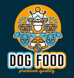 On the theme of food for dogs vector