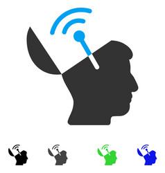 Open mind radio interface flat icon vector