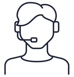 Operator customer support service avatar flat icon vector