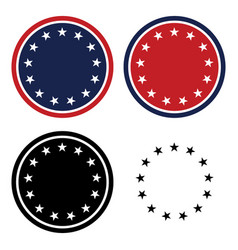 patriotic 13 stars circle set vector image