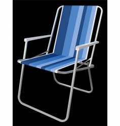 Picnic chair vector