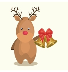 Reindeer character christmas icon vector