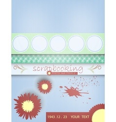 Scrapbooking card bawith text vector