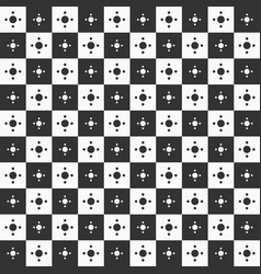 seamless geometric pattern of squares and circles vector image