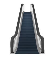 Single escalator mockup realistic style vector