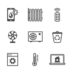 Smart home utilities security control icons vector image