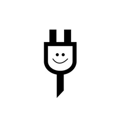 Smile charging icon template design vector