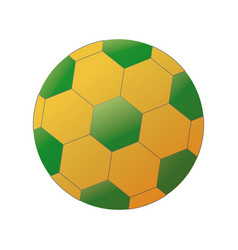 Soccer ball with brazilian colors isolated on vector