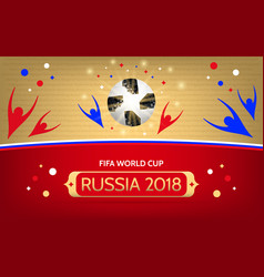 Soccer championship in russia 2018 vector