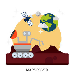 Space mars rover image vector