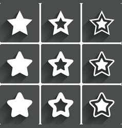 Star icons Rating stars symbols Feedback rating vector
