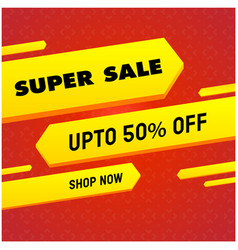 Super sale up to 50 off shop now yellow red backg vector