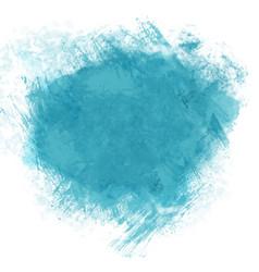 Teal watercolour splatter vector