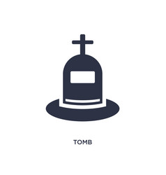 Tomb icon on white background simple element from vector