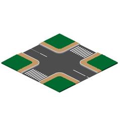 Unregulated crossroads intersection vector