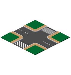 Unregulated crossroads intersection with vector