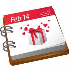 Valentine's calendar vector image