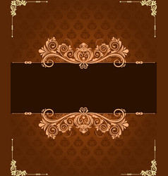 Vintage border and background vector