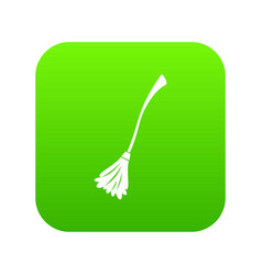 Witches broom icon digital green vector