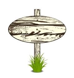 Wood Sign Board vector